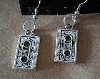 Cute cassette tape dangle earrings