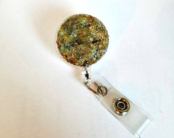 Shimmery Bling, Bling Badge Holder, Nurse Badge Reel, Designer Badge, Gift- BottleCapsGaloreNMor