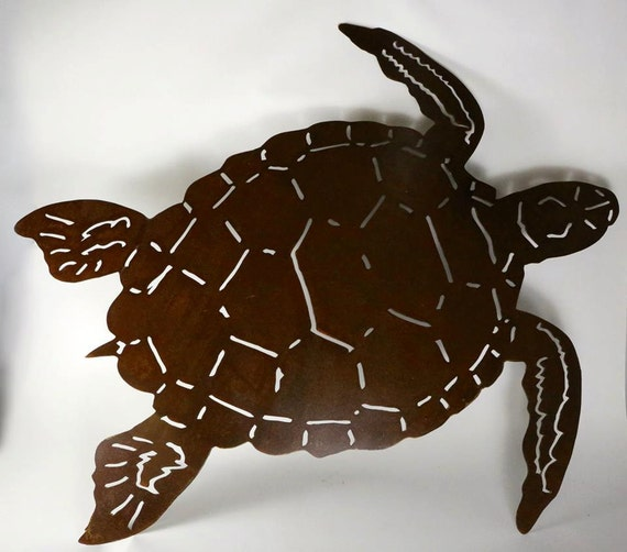 Giant Sea Turtle Metal Wall Art