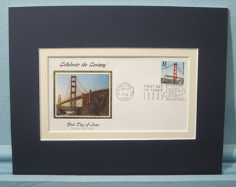 San Francisco - The Golden Gate Bridge & First Day Cover of its own stamp