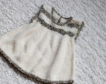 knitted jumper,knitted dress,3-6m jumper,baby shower gift