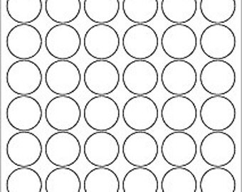 Blank Circle Labels, Plain White Circle Stickers, Color Your Own Stickers, Round Labels, 5 pages of Labels