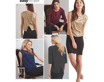 Simplicity Sewing Pattern 8260 Misses' Tops