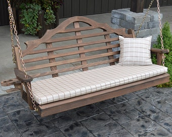 Red Cedar Marlboro 6ft. Outdoor Porch Swing