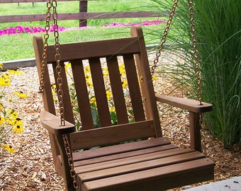 Red Cedar Traditional English Swing Chair