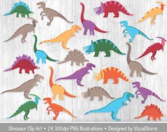 Cute Dinosaur Clipart For Kids Dinosaur Birthday Party Tyrannosaurus Brachiosaurus Parasaurolophus Stegosaurus Triceratops Velociraptor
