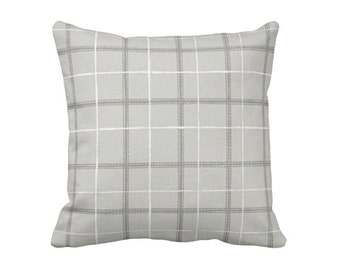 Taupe Pillow Cover Taupe Throw Pillow Cover Plaid Pillows Decorative Pillows for Couch Pillows English Country Taupe Cushions 20x20 Pillow