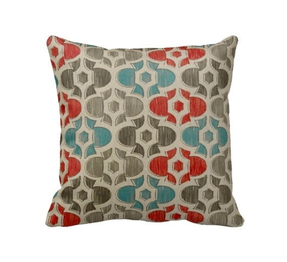 Throw Pillows Beige Couch : Items similar to Beige Throw Pillow Cover Blue Pillows Coral Pillows Grey Pillows Moroccan ...