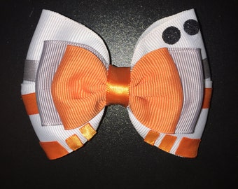 Star Wars Inspired BB-8 Hair Bow The Force Awakens Inspired BB-8 Hair Clip BB-8 Hair Accessory