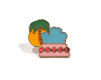 palm springs motel enamel pin