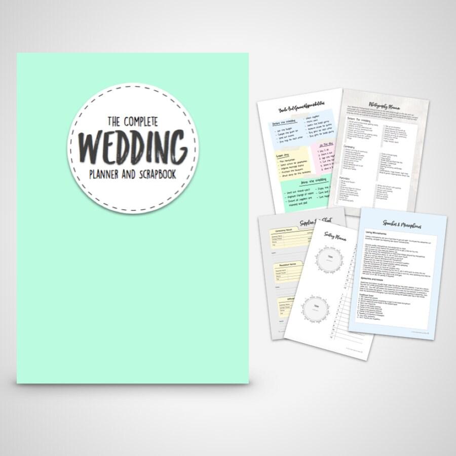 Wedding Planner Printable DIY Wedding binder Folder printable