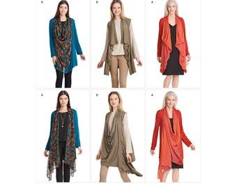 Simplicity Pattern 8171 Misses' Knit Jacket and Vest