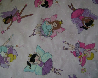 Princesses Cotton Fabric Sold by the Yard