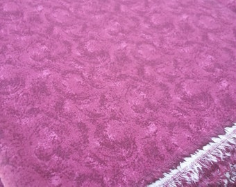 Vintage Maroon Calico Cotton Fabric - (3 Yards)