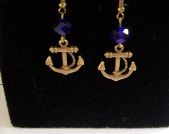 earring with ink Navy