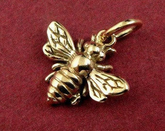 Natural Bronze Honeybee Bumble Bee Charm