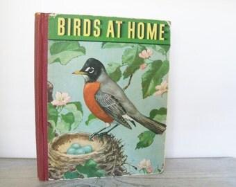 Birds At Home 1942 Vintage Bird Audubon Book by Marguerite Henry Illustrated by Jacob Bates Abbott
