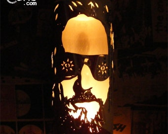 The Big Lebowski 'The Dude' Beer Can Lantern: Jeff Bridges Pop Art Candle Lamp - Unique Gift!