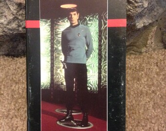 Vintage Star Trek Pocket Locator Personal Log Book Spock