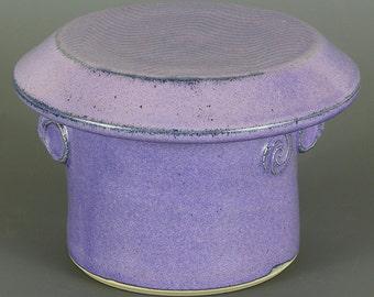 Butter Keeper in Purple Glaze