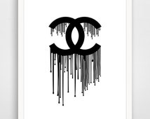 unique chanel dripping logo related items etsy