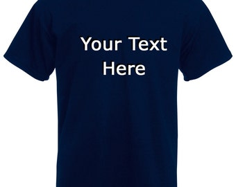 Mens Make Your Own Custom T-Shirt with Quote or Picture Design / Motivational Words Shirt + Free Random Decal