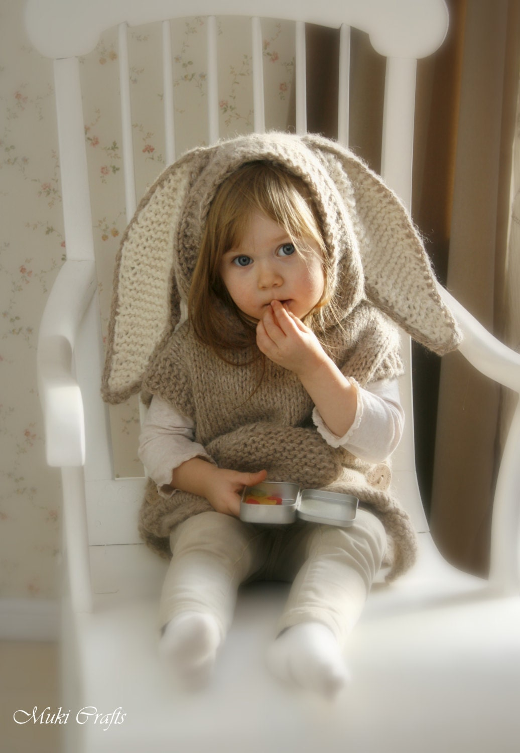 Hooded Toddler Poncho Knitting Pattern : KNITTING PATTERN chunky hooded poncho Phoebe toddler by ...