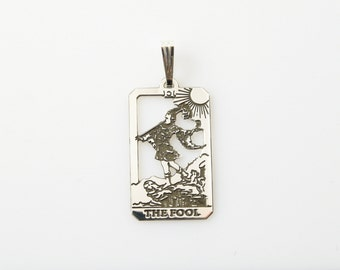 0 The Fool Tarot Pendant  in Sterling Silver