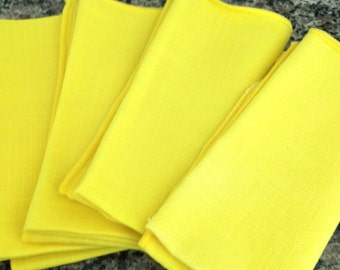 Four Bright Cheerful Cloth Napkins