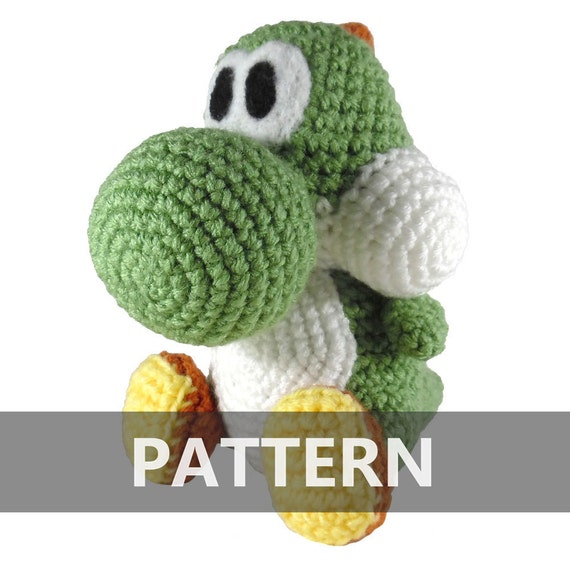 Crochet Patterns Yoshi : PATTERN Yoshi Amigurumi Crochet Plush PDF