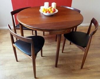 Hans Olsen for Frem Rojle Dining set; table & 4 chairs