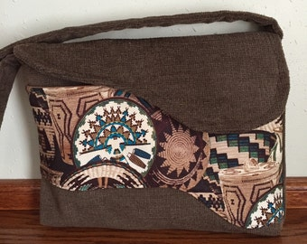 Southwest Messenger Bag for Women, Ladies Handbag, Over the Shoulder Bag, Fall Handbag, Womens Tote Bag, Brown Handbag, Fall Purse