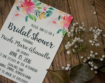 FLORAL|Bridal Shower Invitations #4