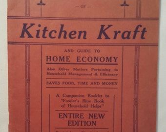 Fowler's Red Book, Kitchen Krafts and guide to Home Economy, 1928