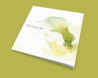 Thinking of You – The Lily, Sympathy Card, Thoughts Are With You Card, Friendship Card, Sorry For Your Loss Card, From the Heart