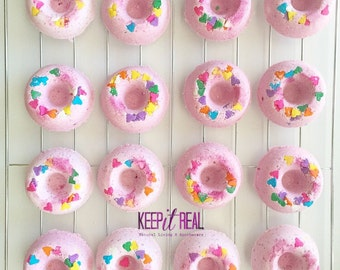Doughnut Bath Bombs Favors (perfect birthday party favor or gift! ) *unscented for the little ones