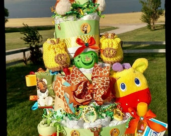 Safari Diaper Cake