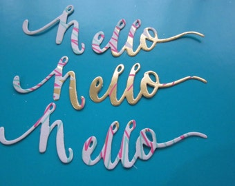 "Set of 3 ""Hello"" Die Cuts"