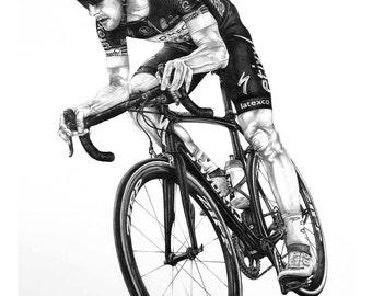 Tom Boonen Art Print cycling gift