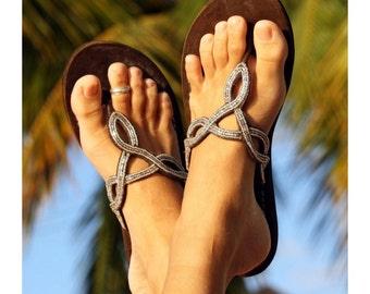 Aspiga Zanzibar Silver Flat Sandal