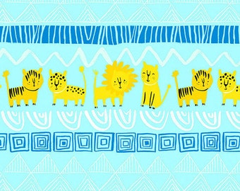 Organic Cotton Crib and Mini Crib Sheets including Arms Reach, 4MOMs breeze Bloom Baby, playards etc. Lions, Tigers gold, blue jungle boys
