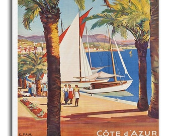 Bandol France Canvas Travel Poster Wall Art French Home Decor xr696