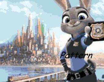 Zootopia #3. Cross Stitch Pattern. PDF Files.