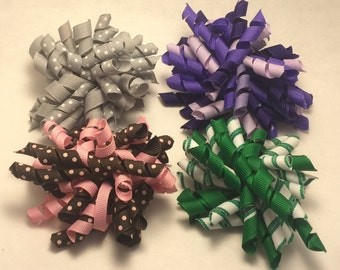 Korker Hair Bow 4 piece set