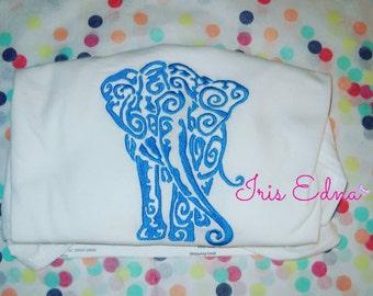 Embroidery Elephant Shirt - Long or Short Sleeve