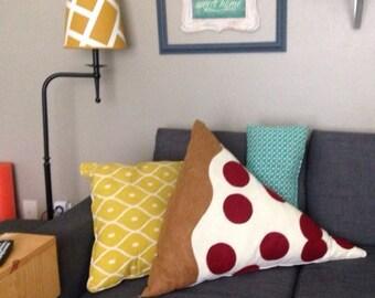 HUGE Pizza Pillow , Pepperoni Pizza Plush, Geeky felt stuffed plush toy pillow