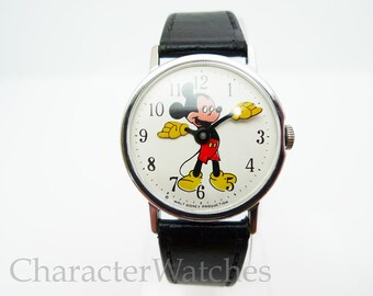 Vintage Timex Marlin 1971 Mickey Mouse Gents Manual Wind Watch