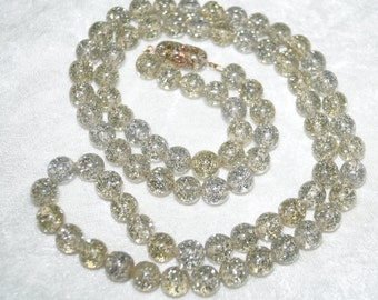 50's 60's Maxi-Balls-Glitter-Necklace