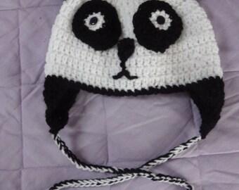 Child's  Crochet Panda Hat