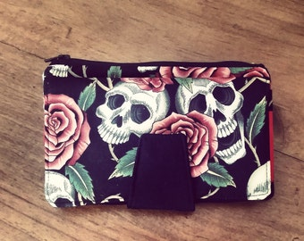 Rose and Skull clutch
